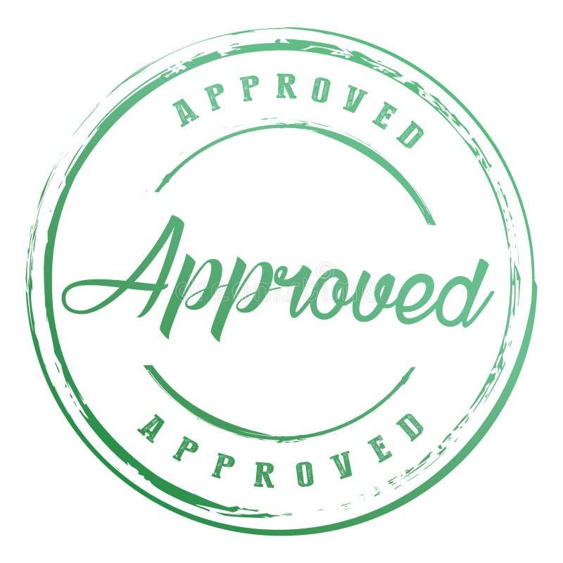 Le cercle de gradient a approuvé l'insigne de joint avec l'icône de frontière d'étoile illustration libre de droits