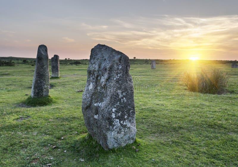 Le cercle en pierre de Hurlers photos stock