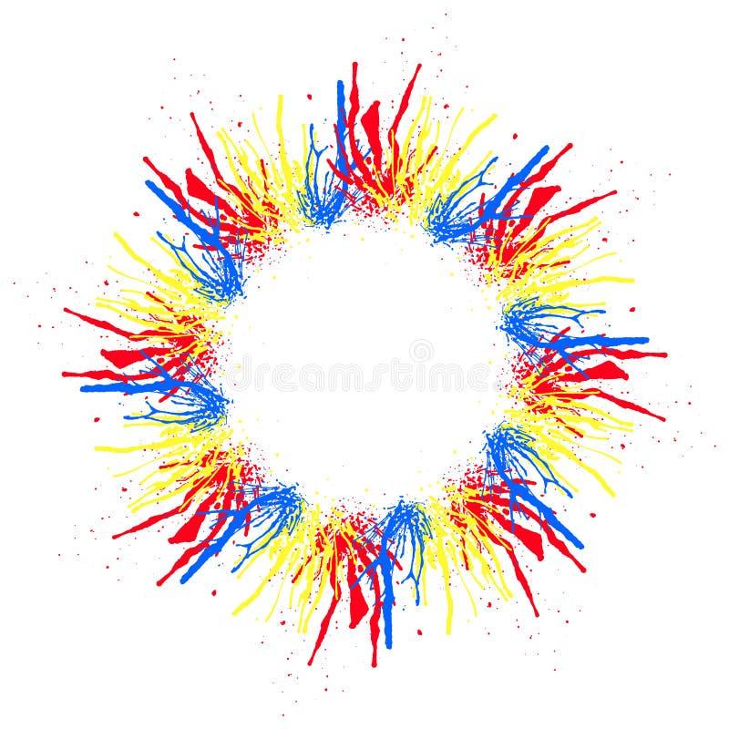 Le cercle stylisé de l'aquarelle multicolore éclabousse et l'espace pour le texte Illustration EPS10 de vecteur illustration libre de droits