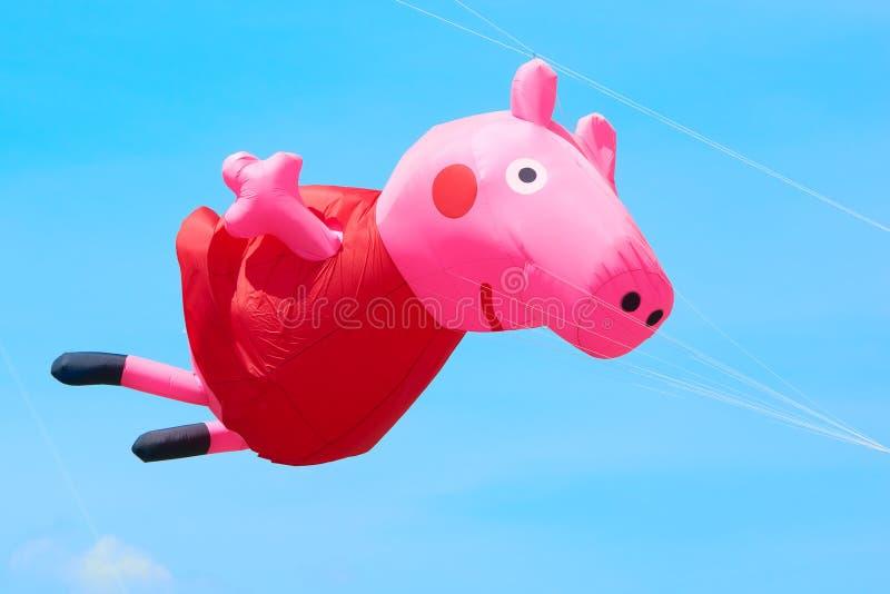 Le cerf-volant est avion soulevé par énergie éolienne Festival de cerf-volant images libres de droits