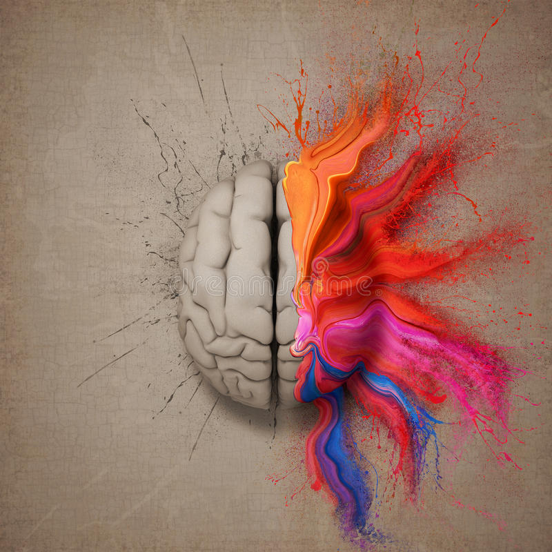 Le cerveau créatif illustration de vecteur