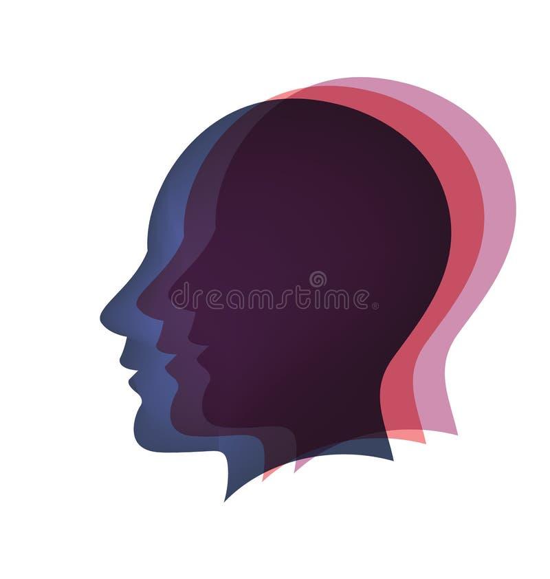 Le cerveau dirige le vecteur illustration de vecteur