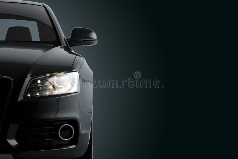 Le CG. rendent de la voiture de luxe générique de coupé illustration libre de droits