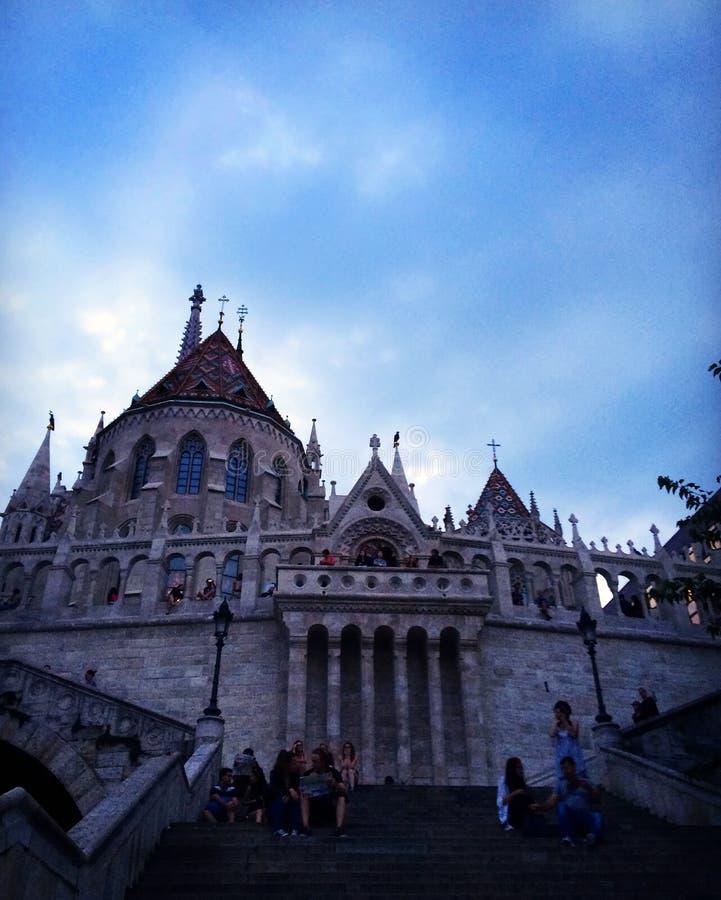 Le château à Budapest images libres de droits