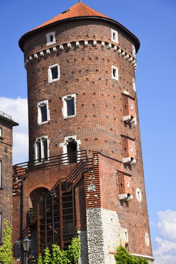 Le château à Cracovie, Cracovie, la capitale culturelle officieuse de la Pologne image libre de droits