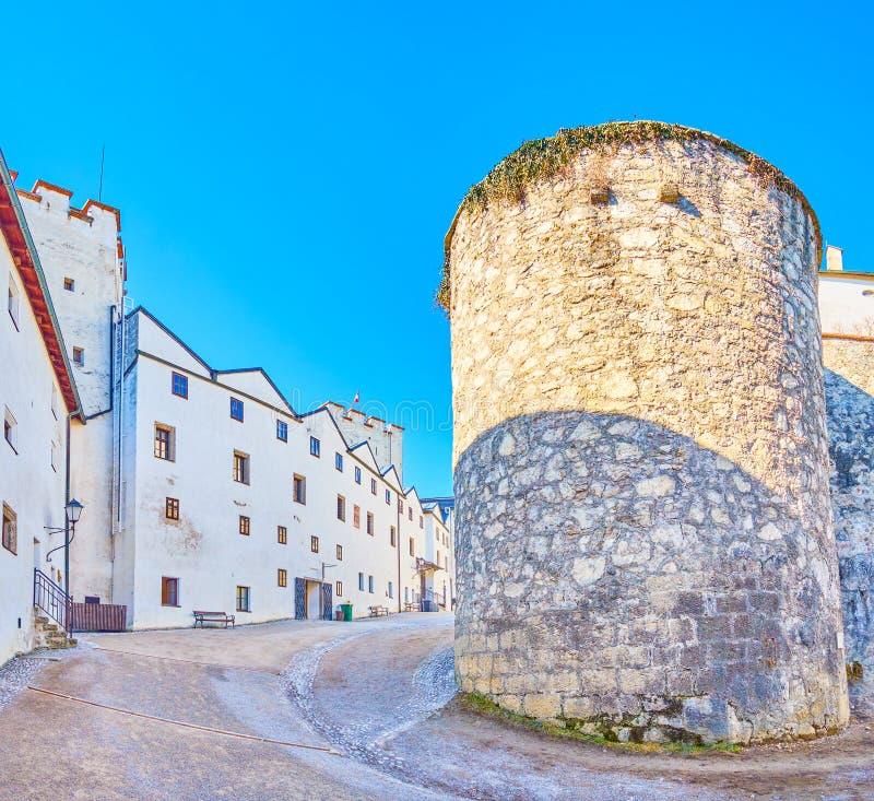 Le château à l'intérieur de la forteresse de Hohensalzburg, Salzbourg, Autriche image stock