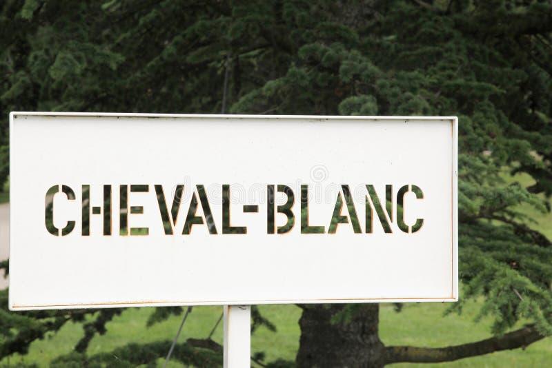 Le château Cheval Blanc est un producteur célèbre de vin dans Saint Emilion dans la région de vin de Bordeaux des Frances photos libres de droits