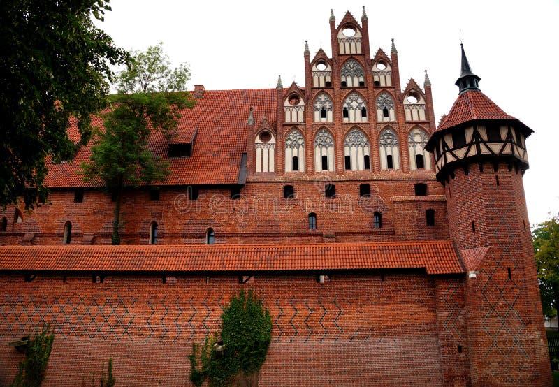 Le château dans Malbork images libres de droits