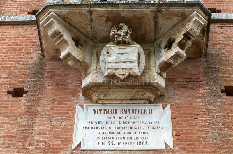 Le château de Brolio, Gaiole dans le chianti, Toscane, Italie photos libres de droits