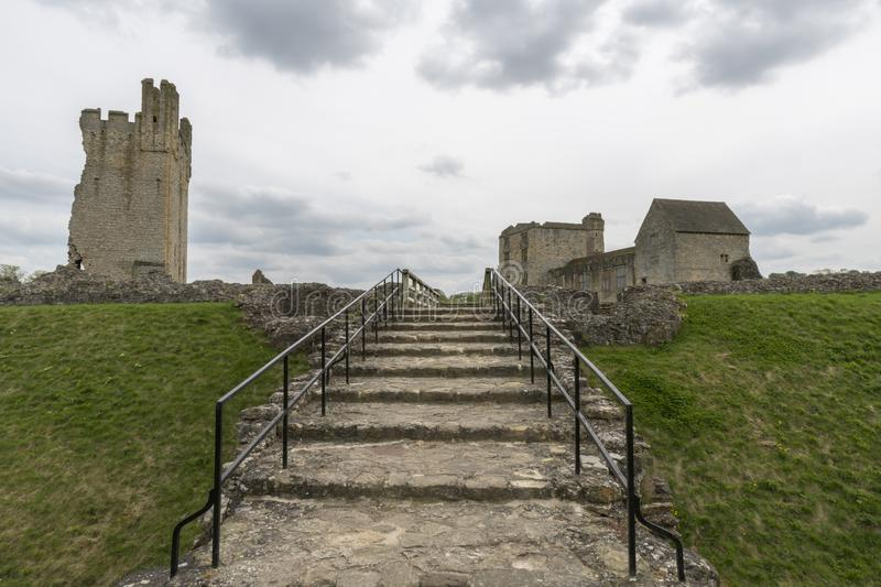 Le château de Helmsley, Helmsley, North Yorkshire amarre, North Yorkshire, Angleterre photos stock