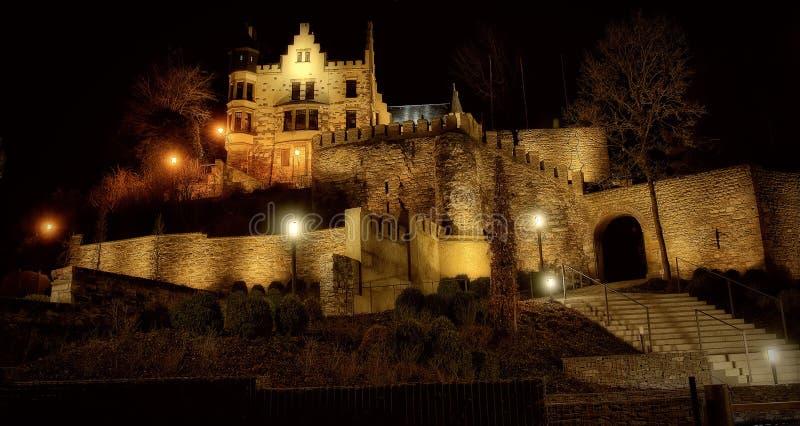 Le château de Herzogenrath est monté image stock
