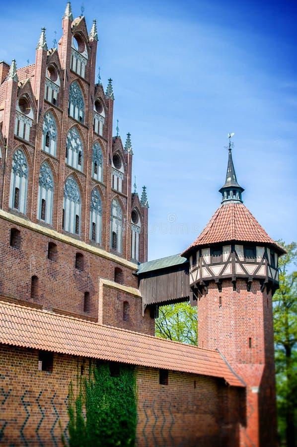 Le château de l'ordre Teutonic dans Malbork image stock
