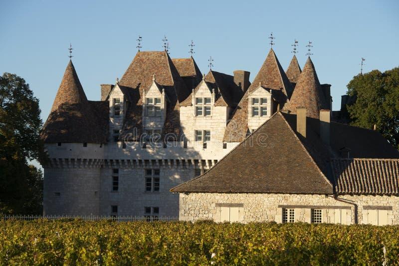 Le château de Monbazillac, les vins botrytized doux ont été faits dans Monbazillac photo libre de droits