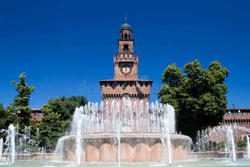 Le château de Sforza images stock