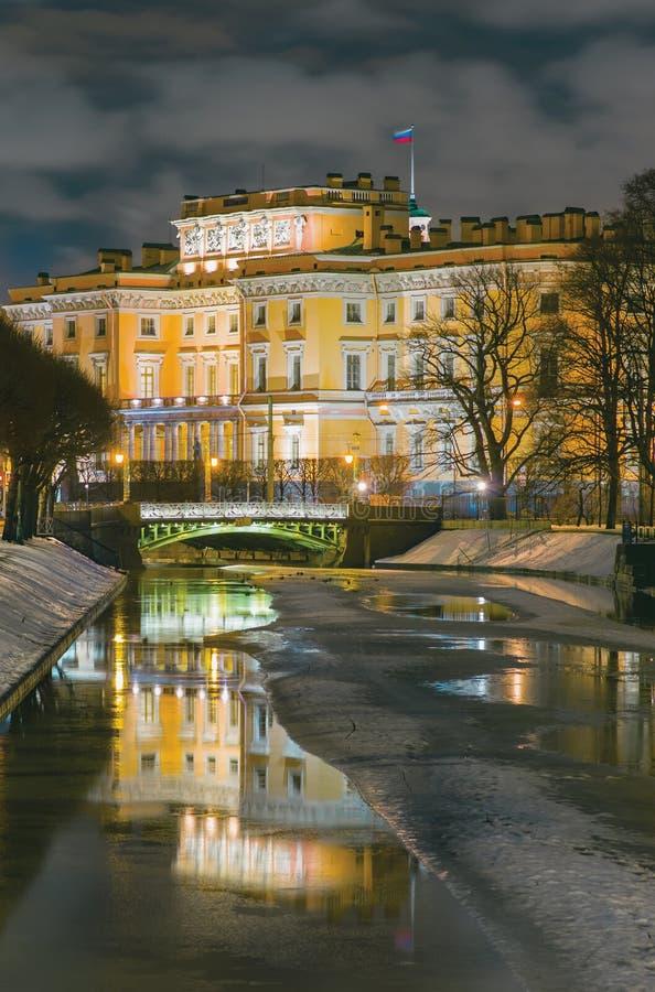 Le château de St Michael St Petersburg, Russie photo stock