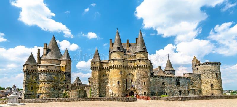 Le château de Vitre, un château médiéval en Bretagne, France photo libre de droits
