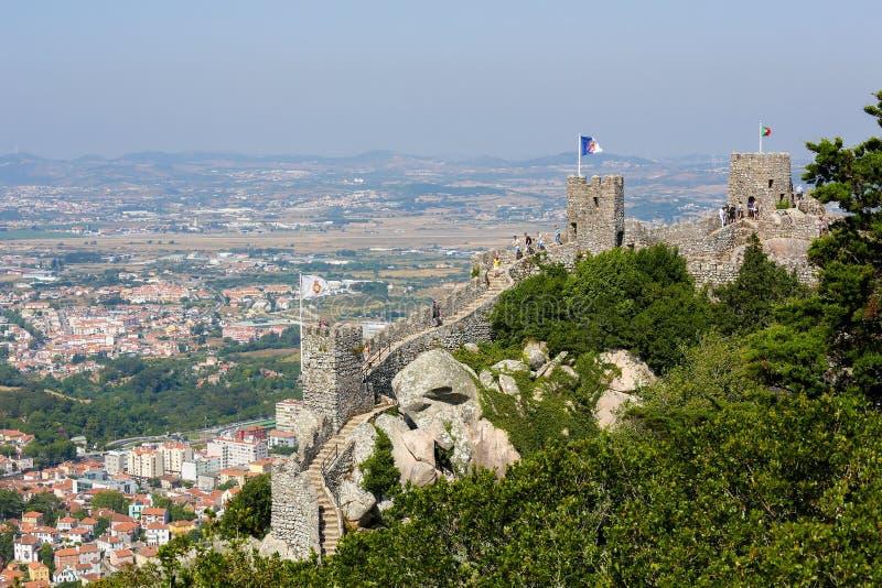 Download Le Château Du Amarre Dans Sintra, Portugal Photographie éditorial - Image du indicateur, architecture: 76079407