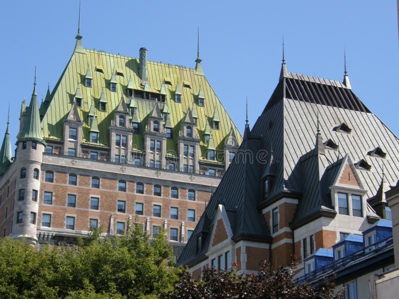 Le Château Frontenac i Quebec City arkivfoto