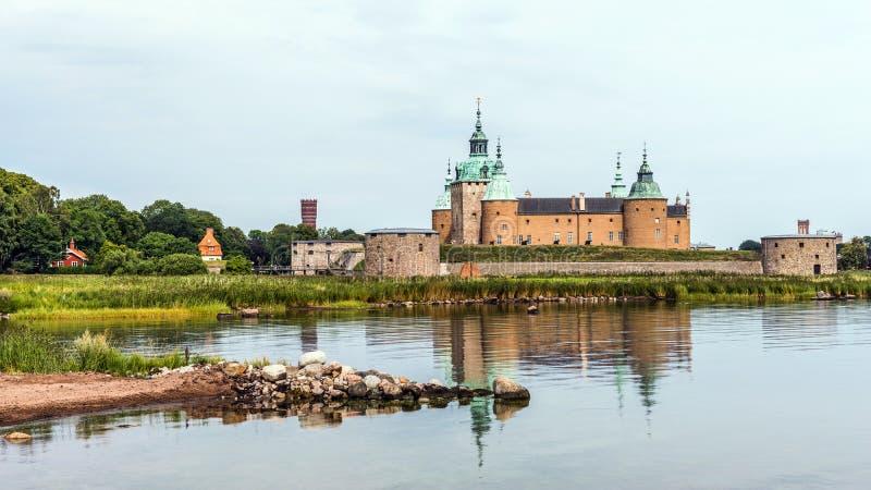 Le château légendaire de Kalmar photographie stock libre de droits