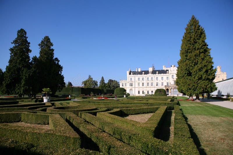 Le château Lednice - sud de la Moravie - Repu tchèque photographie stock