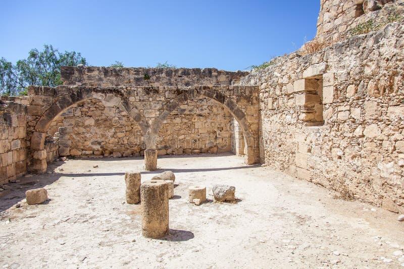 Le château médiéval de Kolossi. image stock