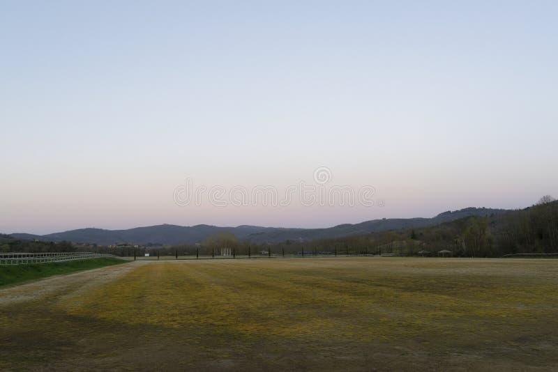 Le champ de polo photos stock