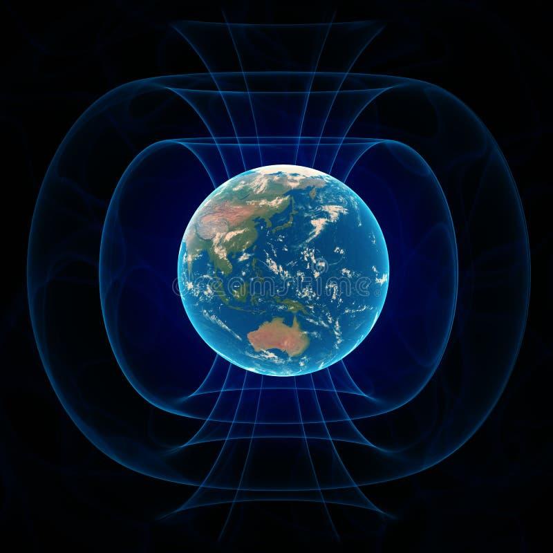 Le champ magnétique de la terre illustration stock