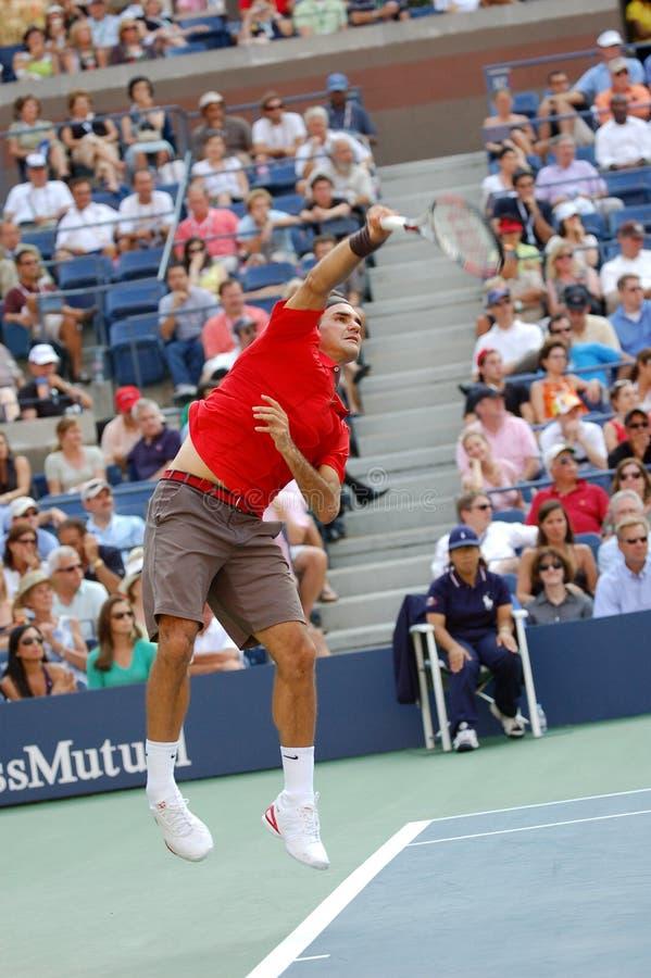 Le champion USA de Federer Roger ouvrent 2008 (87) images stock