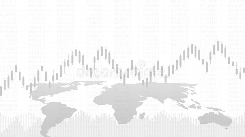 Le chandelier d'affaires et le graphique financier dressent une carte approprié au concept marchand d'investissement de marché bo illustration libre de droits