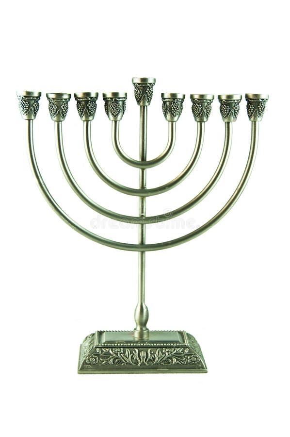 Le chandelier de Hanuka photographie stock libre de droits
