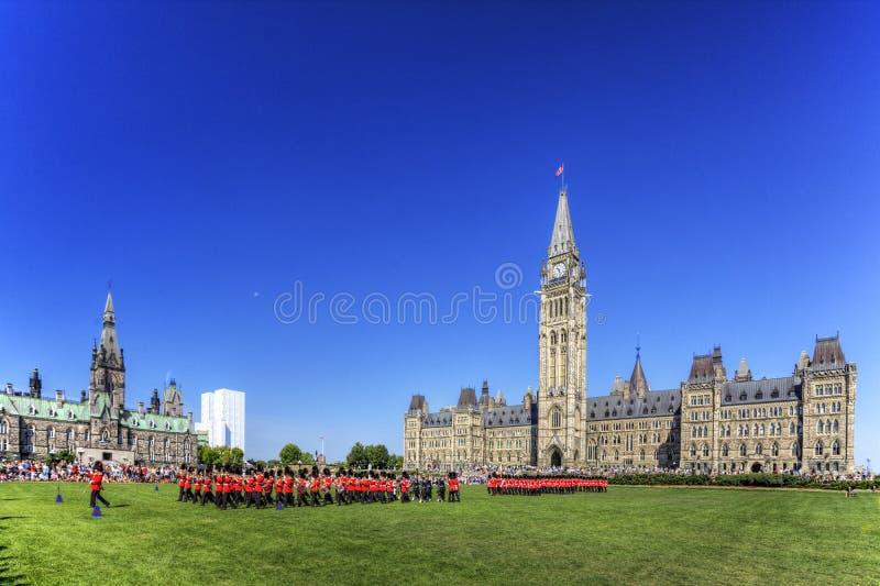 Le changement cérémonieux de la garde, Ottawa, Canada photo libre de droits