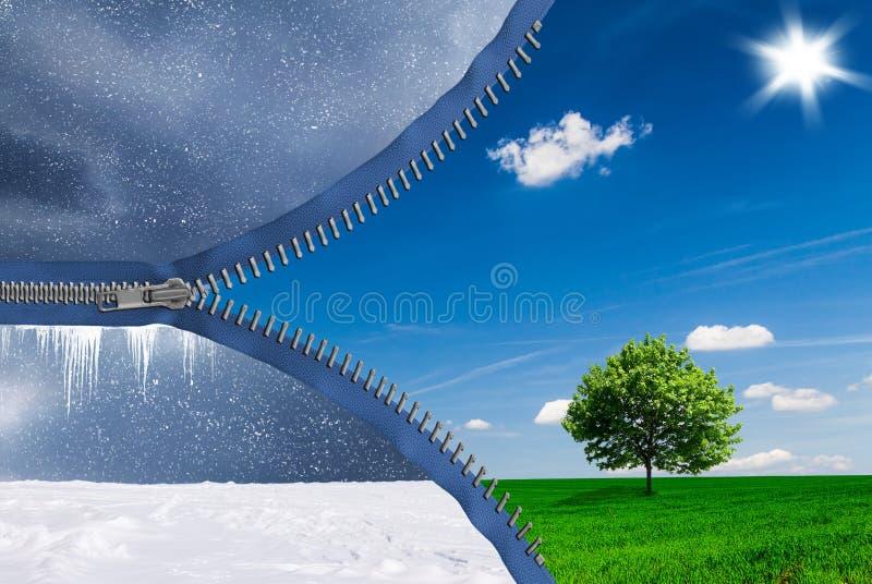 Le changement des saisons images libres de droits