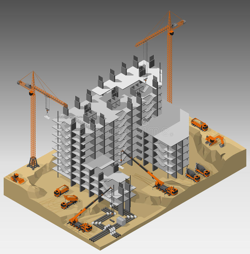 Le chantier de construction illustration de vecteur