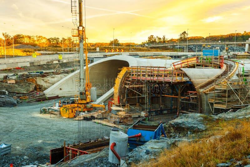 Le chantier de construction du tunnel photo stock