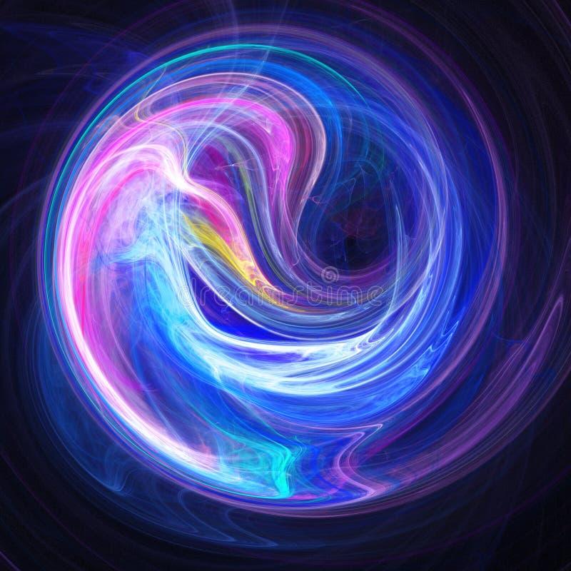 Le chaos rayonne l'espace de cercle illustration libre de droits