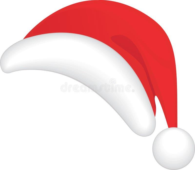 Le chapeau de Santa rouge. illustration stock