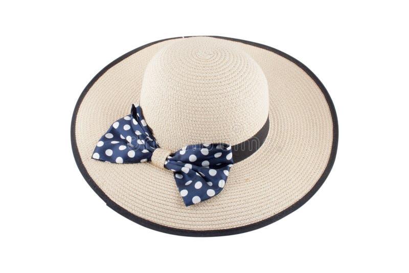 Le chapeau des femmes sur un fond blanc image stock