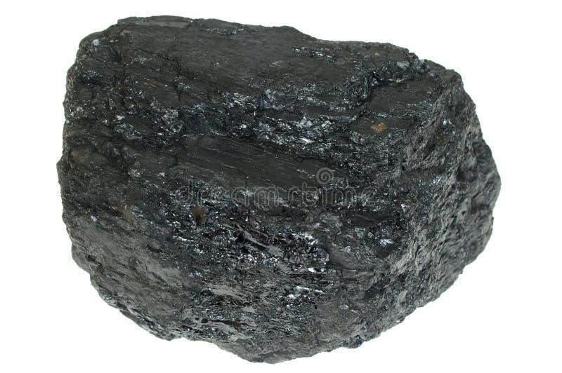 Le charbon a isolé images stock