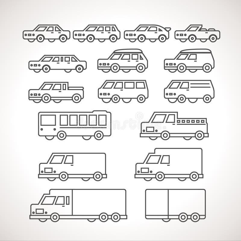 Le chariot dactylographie des icônes d'ensemble illustration libre de droits