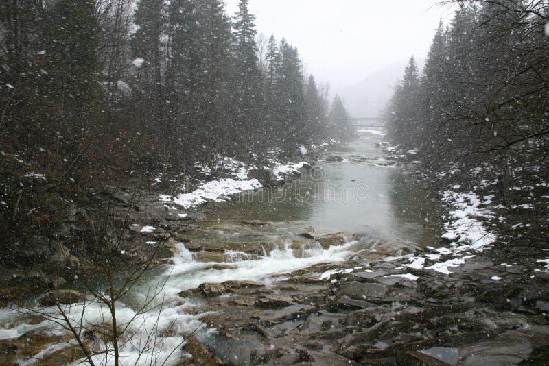 Le charme de l'hiver Carpathiens photos libres de droits