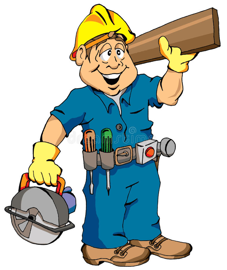 Le charpentier illustration de vecteur