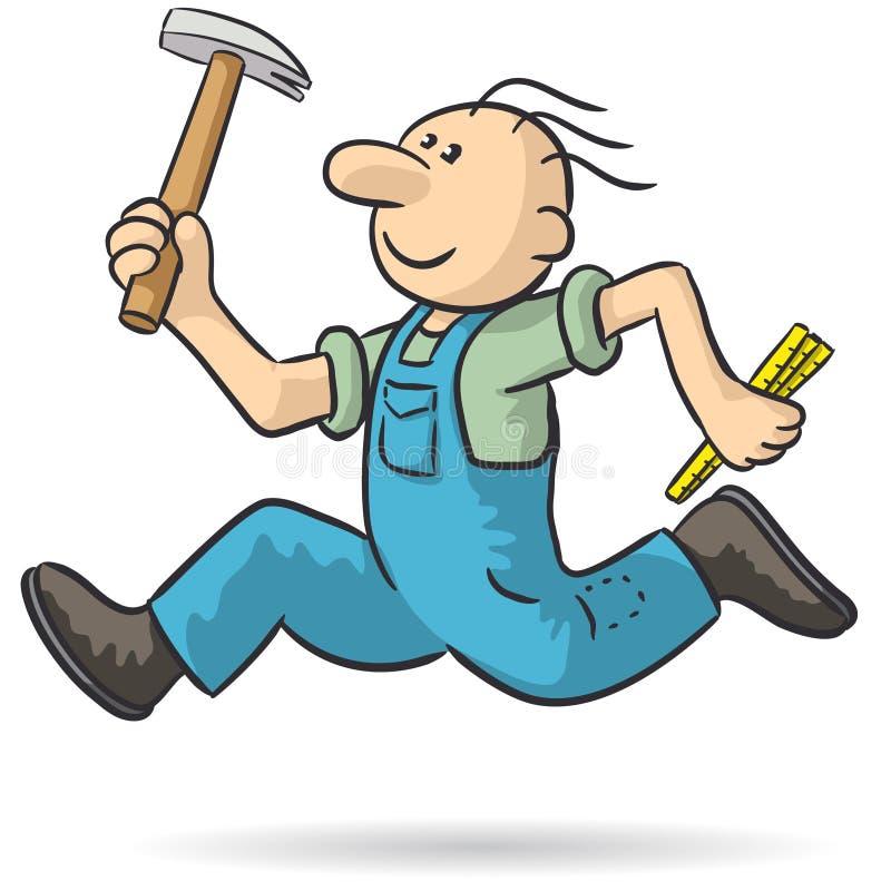 Le charpentier jeûnent illustration libre de droits