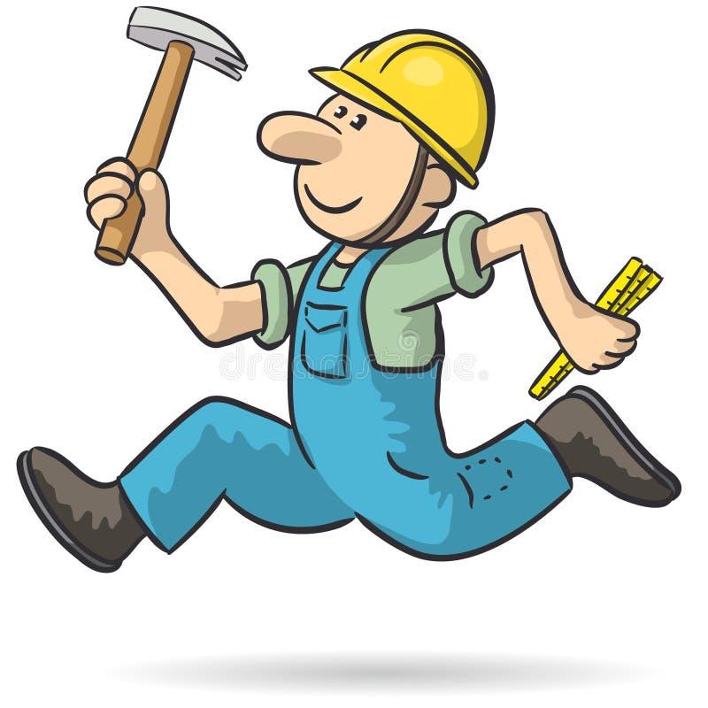 Le charpentier jeûnent illustration de vecteur
