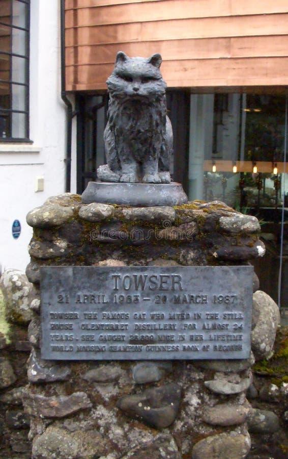 Le chat de Towser a vécu dans la distillerie de Glenturret, Ecosse photos libres de droits