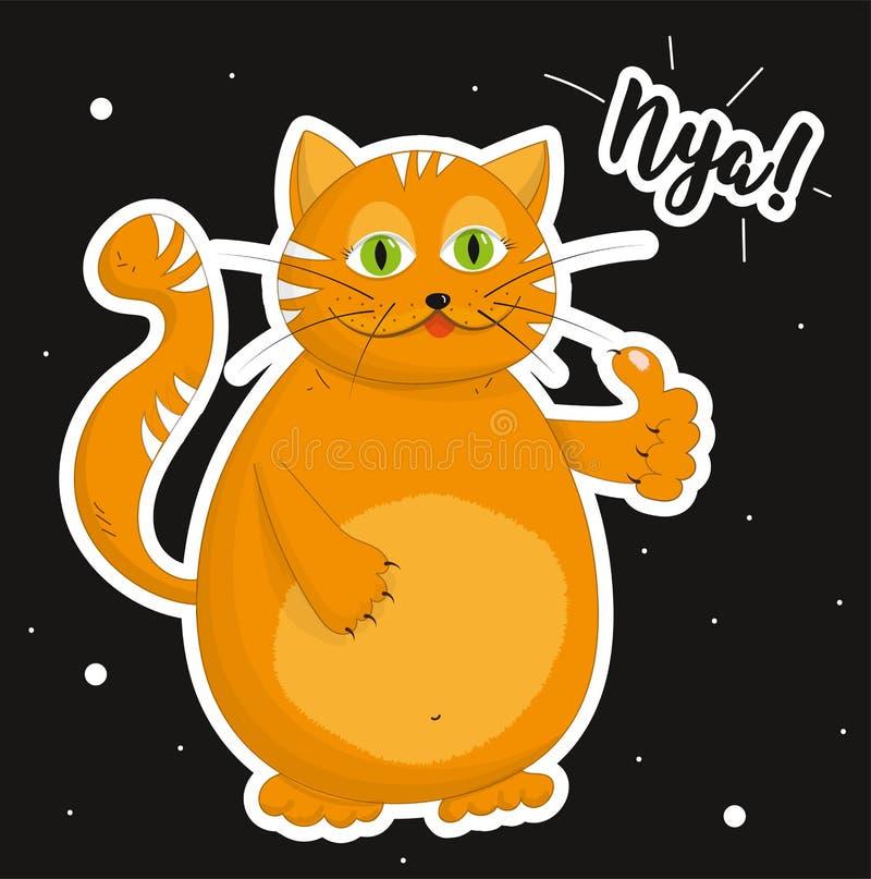 Le chat montre comme le signe images libres de droits