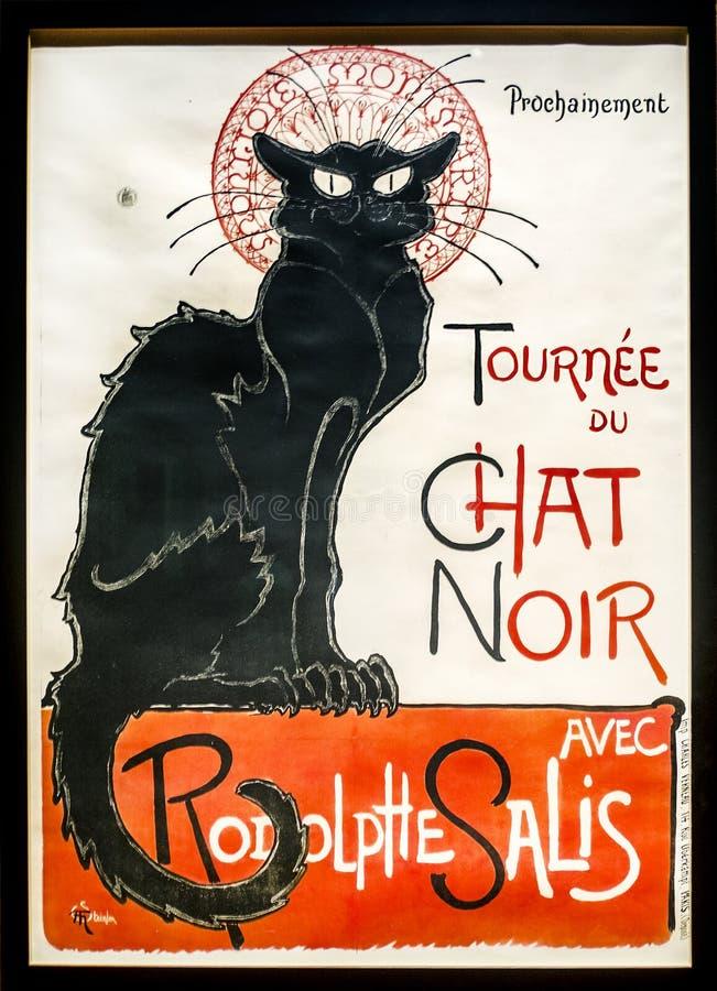 LE Chat Noir στοκ φωτογραφία με δικαίωμα ελεύθερης χρήσης