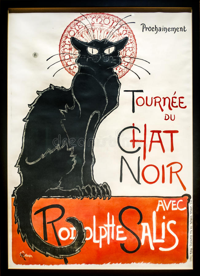 Le Chat Noir royalty free stock photo