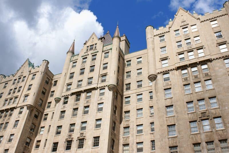 Le Chateau Apartments in via di Sherbrooke, Montreal fotografie stock