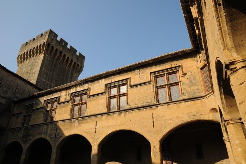 Le Chateau de l Emperi in salone de Provenza fotografia stock libera da diritti