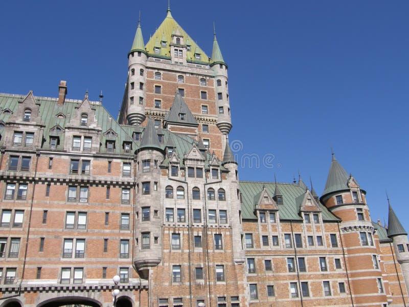 Le Chateau Frontenac à Quebec City photographie stock libre de droits